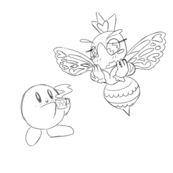 [Kirby x Sectonia] Would you like some tea by MyDoggyCatMadi