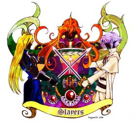 Illust for History of Korean Slayers fanfics 2006 by EugeneCh