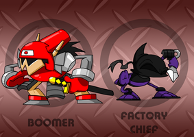 SMRPG: Boomer and Factory Chief by professorfandango