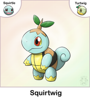 Squirtle + Turtwig Fusion