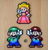 Mario, Luigi + Peach by Aenea-Jones