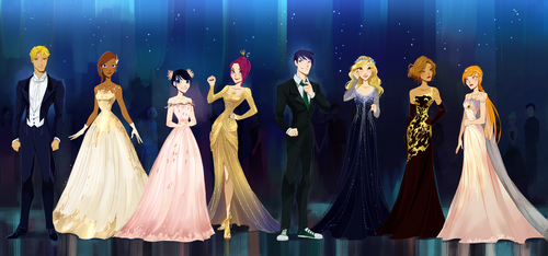 Almost Magical: Ball chapter outfits by chocolatesmoothie