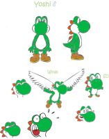 Yoshi model sheet by TMystery