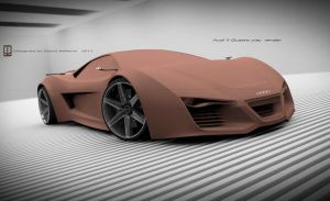 Audi XQ Concept clay render by wizzoo7