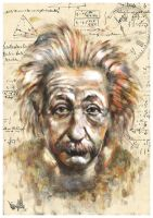 Albert Einstein Tribute by mickehill