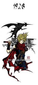cloud strife --- 19.08 by emorae