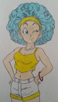 Afro Bulma by dcb2art