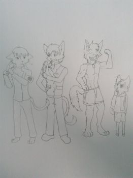 A sketch of my OCs by ZhangJC