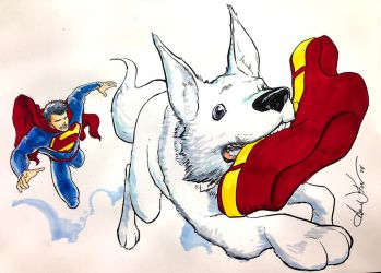 Krypto and the great undies caper by AaronKuder