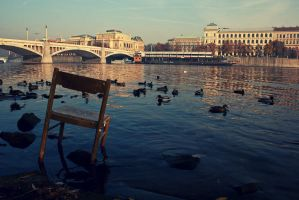 Lone chair by 2ravens