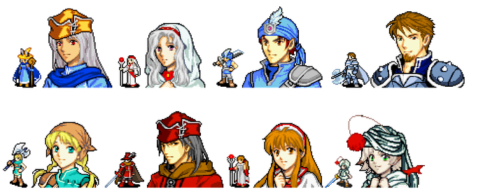 Final Fantasy: The Blue Watch - Characters by Linkain