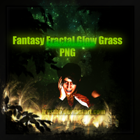 Fantasy Fractal Glow Grass PNG by FrostBo