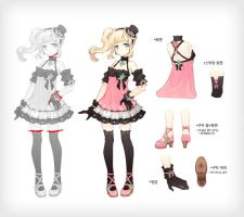 alicia online clothes artwork 3 by Littlesilvercrow