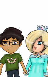 OC and Rosalina by Sarah-The-Lion-Wolf