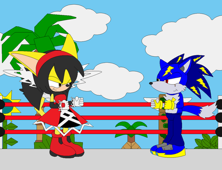 Sonic and Volt the wrath of Darken (Part 1) by Voltgaming20