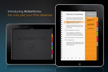 ActioNotes iPad app by daveHORNSBY