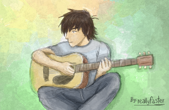 Color of an acoustic melody by Reallyfaster
