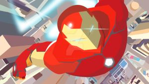 Invincible Iron Man in vector style by HelloimKiki