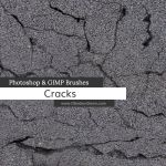 Cracks Photoshop and GIMP Brushes by redheadstock