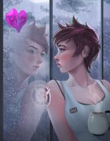 Tracer sad morning by AmeDvleec