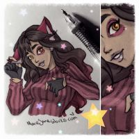 Skylar Fox ~ Red Sketch by MarieJaneWorks