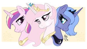 MLP FIM - Young Princesses Royalty by Joakaha