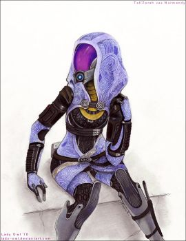 Tali'Zorah vas Normandy by Lady-Owl