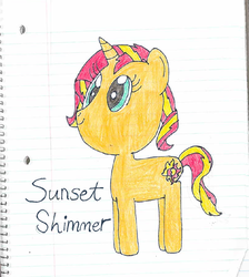 Sunset Shimmer by nightshadowmlp