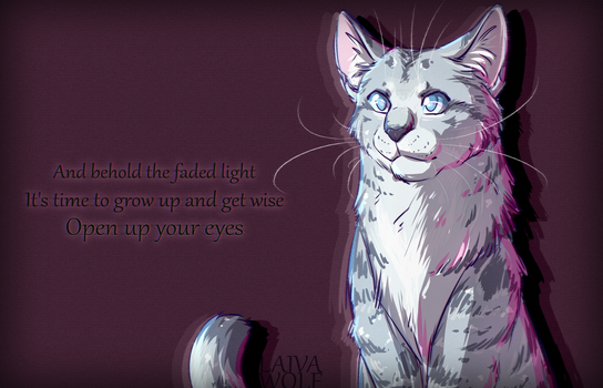 Fanart| Open up your eyes, Jayfeather by LaivaWolf