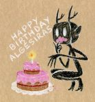 Birthday card for Algesiras by InvisibleNinni