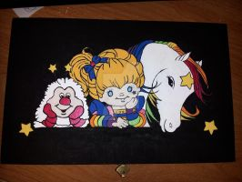 Repurposed Cigar Box ~ Rainbow Brite Jewelry Box by MikeysGrrrl