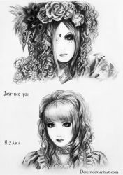 Jasmine You and Hizaki by Develv