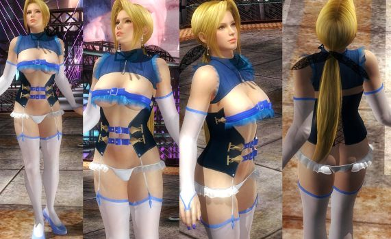 Helena Blue Top Corset by funnybunny666
