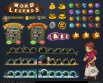 Word Legends Art Assets by PRDart