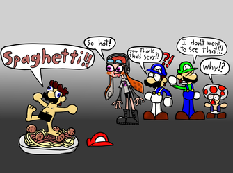 meggy likes seeing stupid Mario naked by BloodHaven666