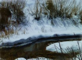 Headwaters Big Thompson RMNP May2014Painting by MSchmidtProductions