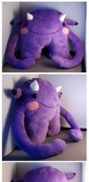 Purple Cuddle Monster for sale by Ljtigerlily