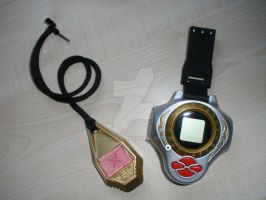 Crest and Digivice by WishCat