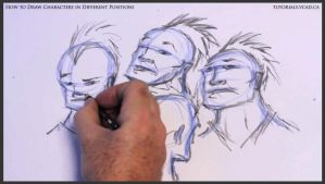 Learn to draw characters in different positions 18 by drawingcourse