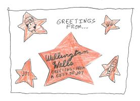Greetings From Weillington Wells Postcard by dth1971