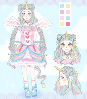 [Adopt Auction CLOSED] Unicorn Princess by Riniru