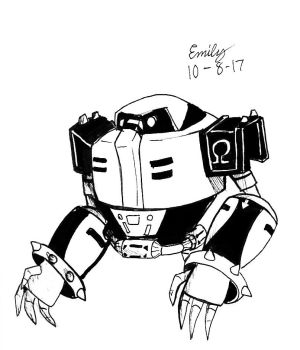 Inktober #7 Omega by Tri-shield