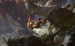 Demon King vs Monkey King by fengua-zhong