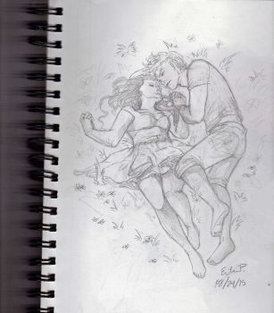 Clary and Jace by Leenieh