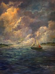 Sailing The Divine Light by Rbpainter