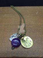 Amethyst Stamped pendant by theevergreenburrow