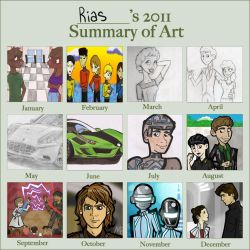 2011 in Art by RaccooninaSuit
