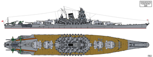 Last Japanese Battleship proposal by Tzoli