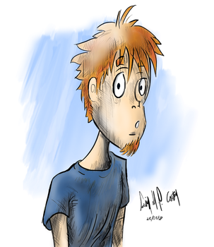 A Boy With Blue T-Shirt by luciano6254