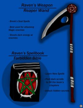 Raven's Reaper Wand by ThaMaJesticArtist